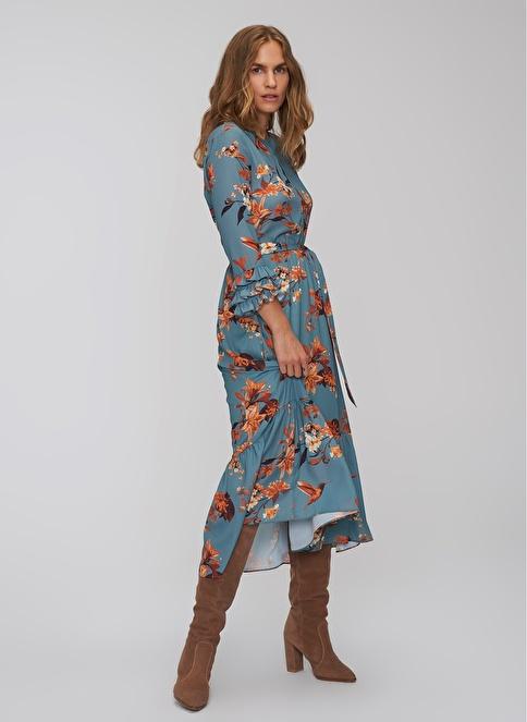 43389098f89f6 People By Fabrika Kadın Çiçek Desenli Elbise Mavi İndirimli Fiyat | Morhipo  | 22460061
